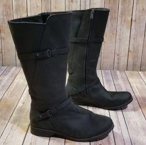 1c352edb19fe1 Teva De La Vina Black Calf Height Boots 9.5